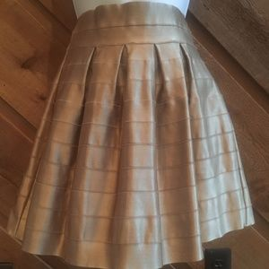 Wow Couture Pleated Gold Skirt Size Small